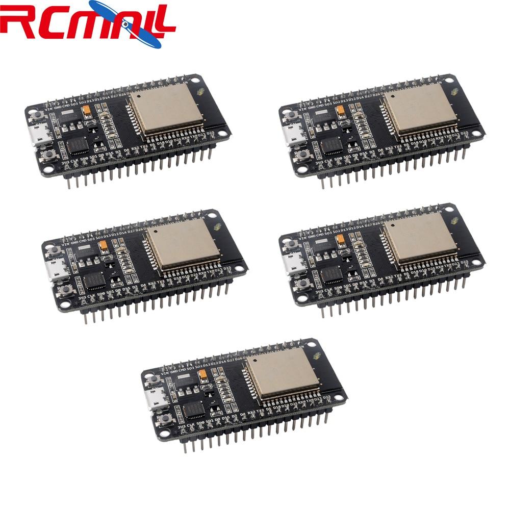 5Pcs/lot ESP32S Development Board WiFi+Bluetooth DECKIT V1 IOT Expressif NodeMCU-32S  ESP-WROOM-32 RCmall