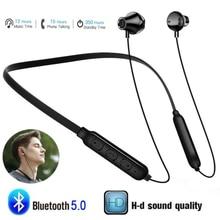 Y10 Best Magnetic Bluetooth Wireless Headphones Sport Waterproof Earphones Neckband Hi-Fi Bass Music