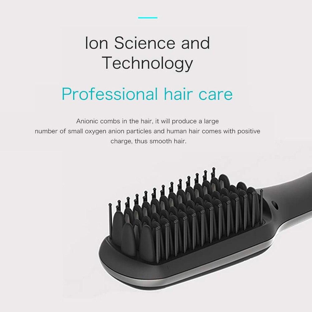 Beard Straightener With LED Display Ionic for Men Beard Straightening Comb 1