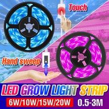 LED Grow Light USB Full Spectrum LED Grow Light Strip 0.5m 1m 2m 3m LED Plant Lamp DC5V Phyto Seed Flower Теплица Лампа Лента