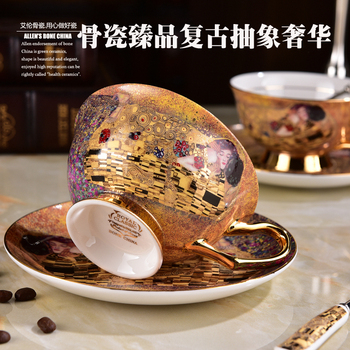 Juego De Taza De Café De Cerámica y platillo De té chino...