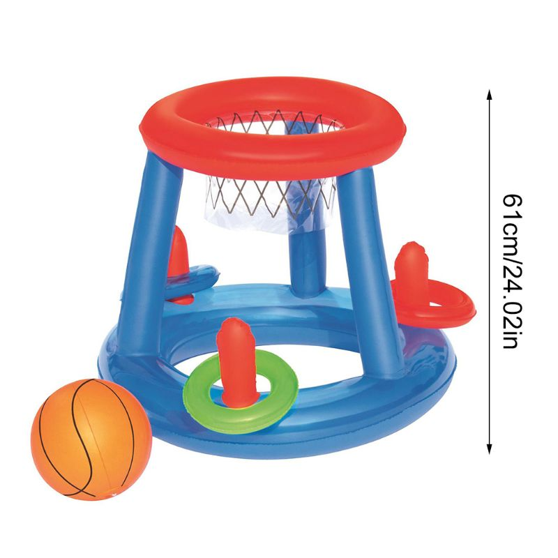 Water Sports Game Multi-function Inflatable Floating Basketball Stand Children Swimming Pool Toys R7RB