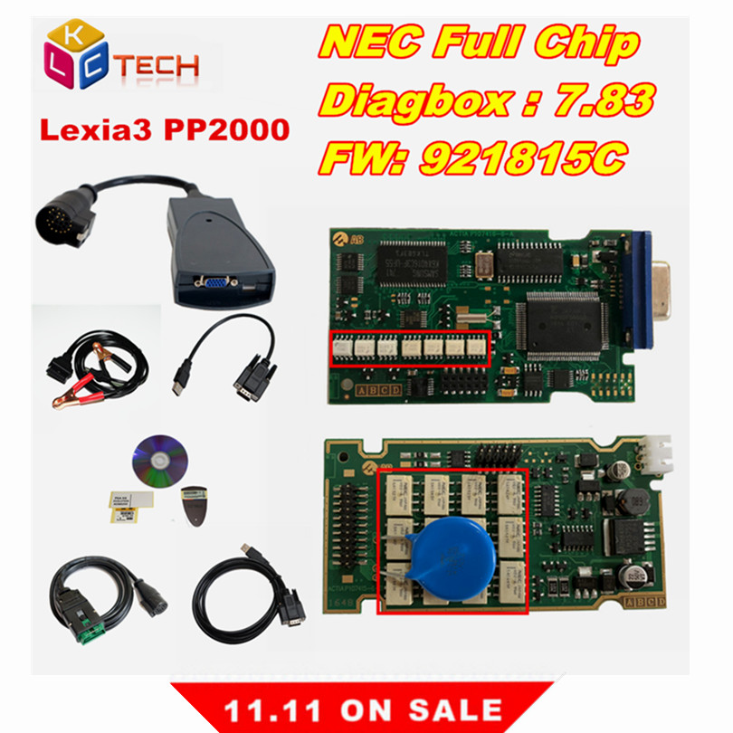 Russian In Stock !! Lexia 3 PP2000 Diagbox 7.83 Full Chip 921815C Lexia3 Scaner Automotriz Diagnostic Tool Lexia-3 OBD2 Scanner