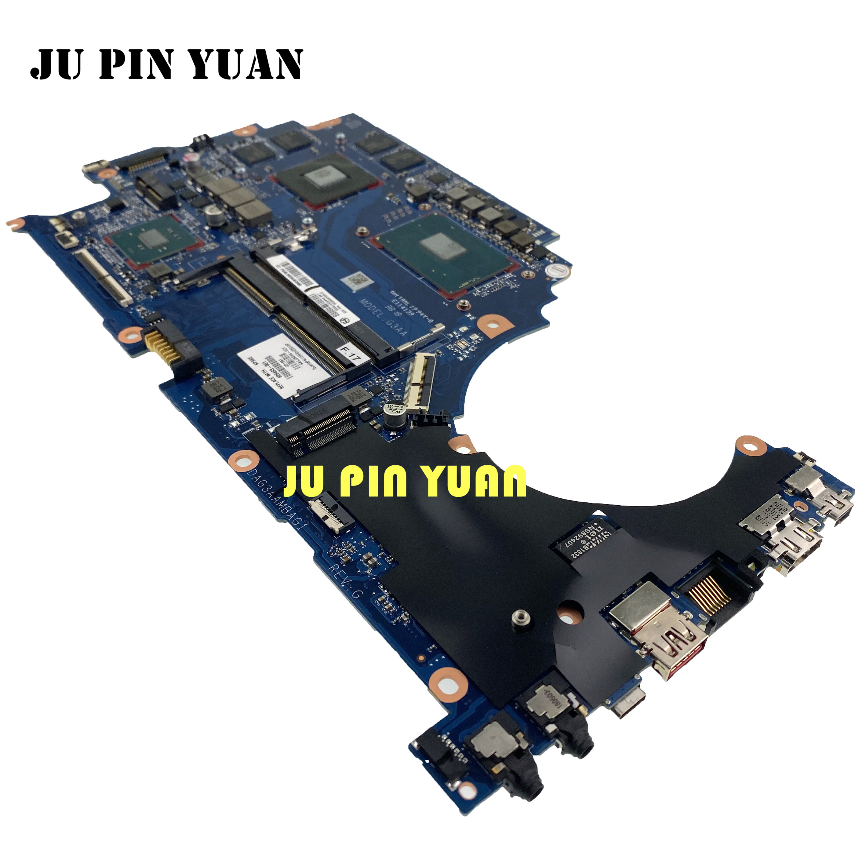 For hp 15-ce 15t-ce TPN-Q194 laptop motherboard 929483-601 929483-001 with <font><b>i7</b></font>-<font><b>7700</b></font> GTX 1050 4GB DAG3AAMBAF0 fully Tested image
