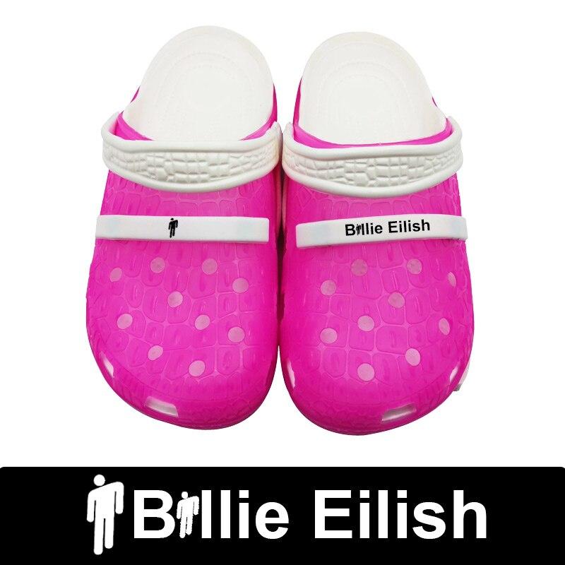 Buy Billie Eilish 2020 Slippers Crocks Hole Shoes Crok Rubber Clogs For Women EVA Unisex Beach Garden Shoes Crocse Zapatos De Hombre