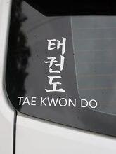 Zttzdy 15 cm * 15.7 cm novidade decoração do carro tae kwon do vinil carro adesivo decalque preto prata ZJ2-0212