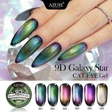 Azure Beauty Chameleon 9D Cat Eyes UV Gel Nail Polish Soak Off Galaxy Semi Permanent Hybrid Magnetic