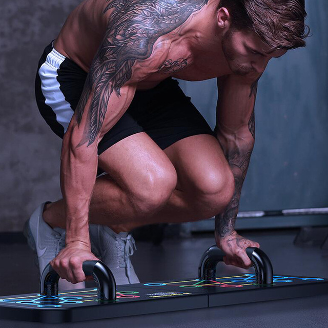 16 in 1 Push-Up Rack Board Training Sport Workout Fitness Gym Equipment Push Up Stand for ABS Abdominal Muscle Building Exercise 5