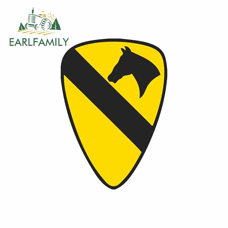 EARLFAMILY 13cm X 9.2cm For U.S. Army 1St Cavalry Division Vinyl Graphic Decal Repair Creative Stickers Suitable For GTR EVO SX