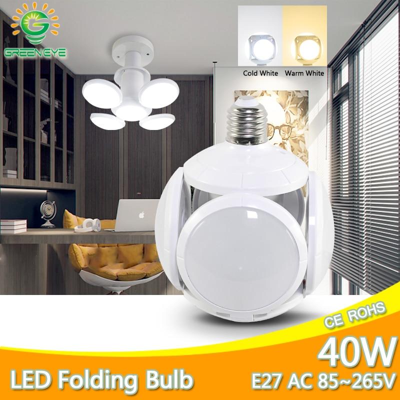 E27 LED Bulb 40W 9W AC 85-265V Cold White Warm White Bombilla Led Spotlight Lampada LED Light Football UFO Lamp Indoor Lighting