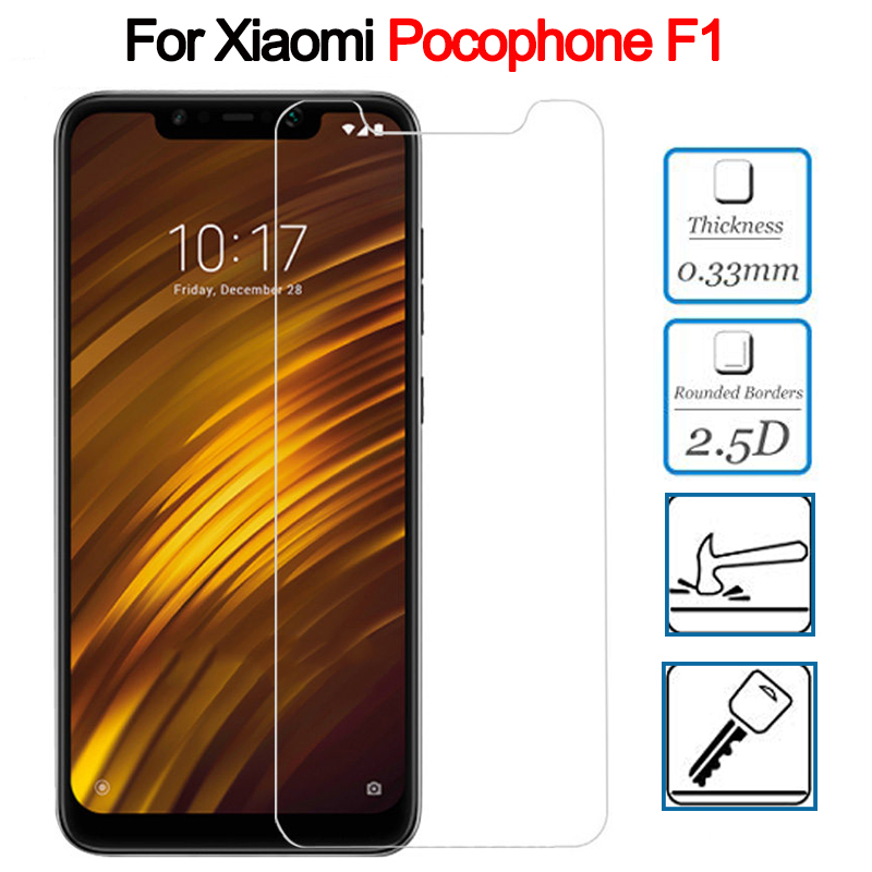 Tempered Glass For Xiaomi Pocophone F1 Glass Ultra-thin Screen Protector Mi Pocophone F1 Poco F1 F 1 PocoF1 M1805E10A Glass Film