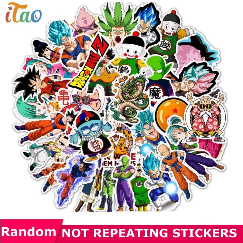 10/20/30/40/50PCS Anime DRAGON BALL Stickers Waterproof PVC Skateboard Laptop Luggage Snowboard Motorcycle Car Kids Toys Sticker