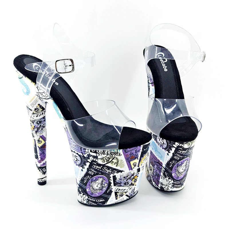 Leecabe/Новые дизайнерские туфли на высоком каблуке 8 дюймов женские босоножки