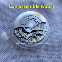 中国クローンrlx gmt 3186ムーブメント自動機械式時計のムーブメントブルーバランス