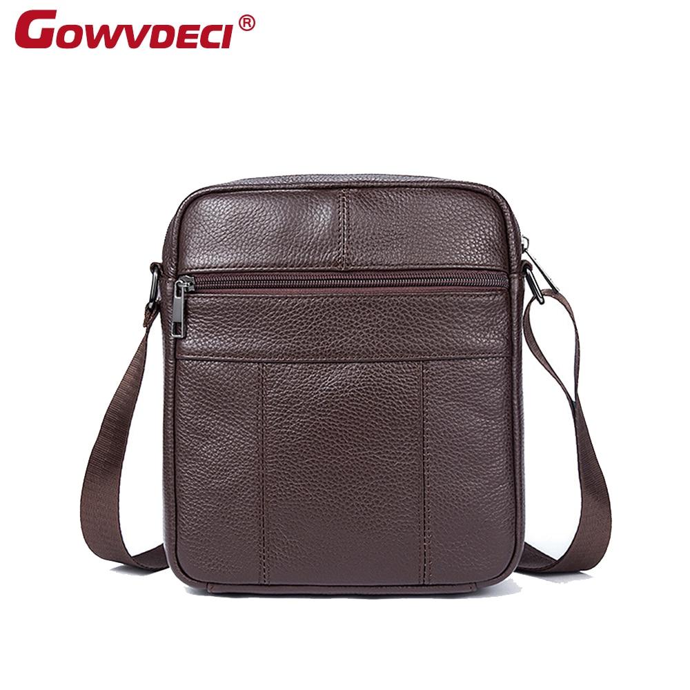 Genuine leather Korean men's messenger bag outdoor leisure leather messenger bag square soft leather shoulder messenger bag