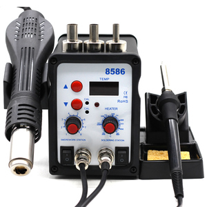 Image 1 - 8586 2 In 1 ESD Hot Air Gun Soldering Station Welding Solder Iron For IC SMD Desoldering vs 858 8858 858D 8858D 8032 8018lcd