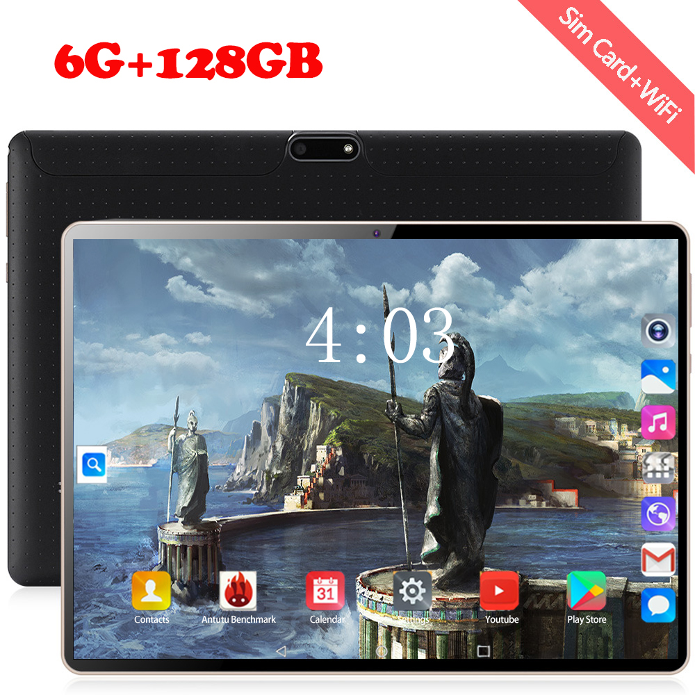 2020 New 10 Inch 4G Tablet PC Android 8.0 Octa Core 6GB RAM 128GB ROM 1280*800 IPS WiFi Bluetooth 4G Dual SIM 10.1 Tablets