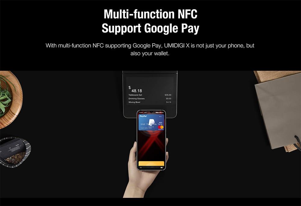 "H269790d5b35b4e7ab4040f1e6dd1624ed Global Version UMIDIGI X In-screen Fingerprint 6.35"" AMOLED 48MP Triple Rear Camera 128GB NFC Helio P60 4150mAh Cellphone"
