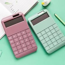 High quality Digital Scientific Calculator Solid Color Solar Powered Student Gift School Office Supply 12 Digit Calculator