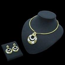 Yulaili 2019 Fashion Dubai Gold Jewelry Sets for Women Charm Choker Dangle Earrings African Nigeria Wedding Accessories Mujer