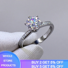YANHUI 100% Original 925 Sterling Silver Engagement Wedding Rings Inlay 5A Cubic Zirconia Stone Ring  Women Silver 925 Jewelry black cubic zirconia 925 sterling silver men s ring