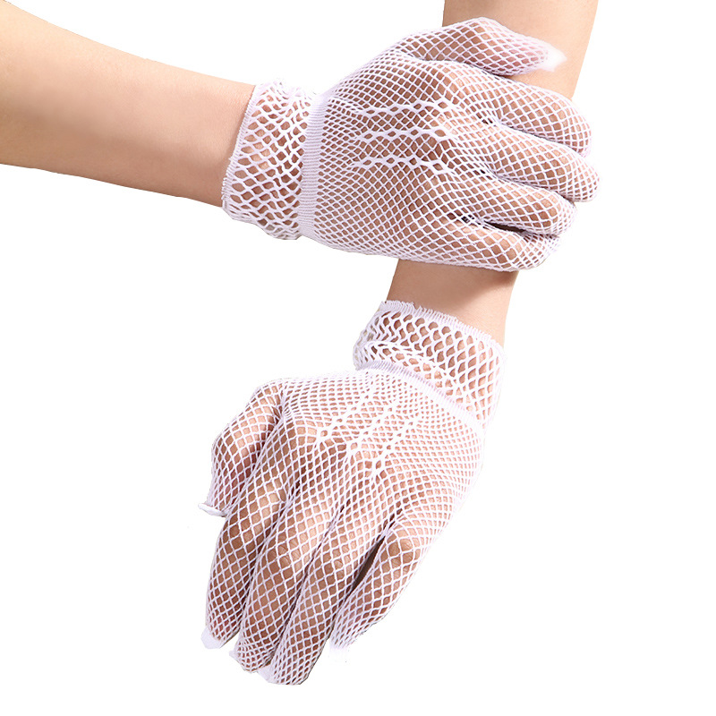 Hot Sale Fishnet Mesh Gloves Fashion Women Gloves Summer Protection Lace Elegant Lady Style Gloves Female