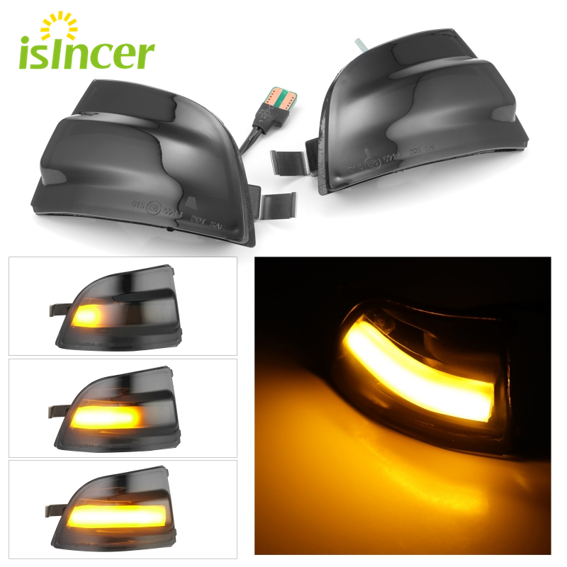 Dynamic Turn Signal Light Car Rear View Mirror LED Indicator Blinker For FORD Focus 2 MK2 2004 - 2008 C-MAX