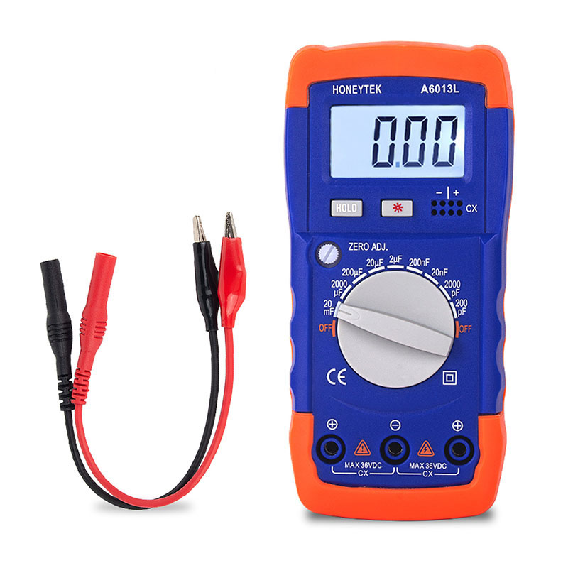 1999 Count LC Meter Capacitance Tester With Set Of Probes Feelers 200pF-20mF Capacitor Meter Data HOLD With LCD Backlight