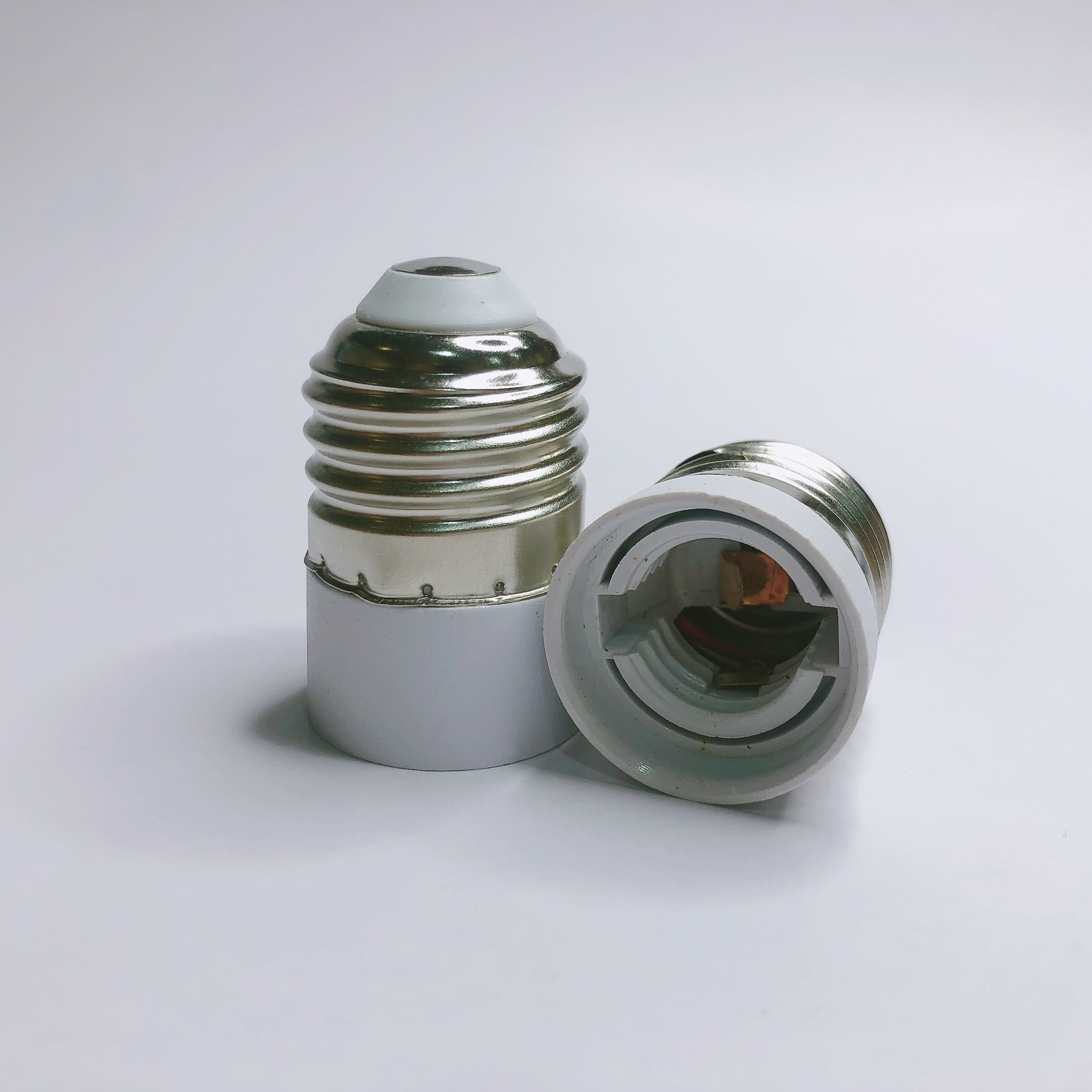 BEYLSION Converter E27 TO E14 Adapter Conversion Socket ABS Material Fireproof Socket Adapter Lamp Holder