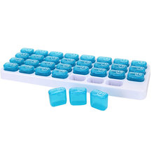 1PCS 31 Days Weekly Tablet Pill Medicine Box Holder Storage Organizer Container Case Pill Box Splitters(China)