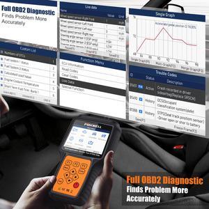 Image 3 - فوكسويل ماسح ضوئي للسيارات NT650 أداة لفحص السيارات, الماسح الضوئي OBD2 لقراءة رمز إعادة تعيين الزيت لأنظمة ABS SRS DPF، احترافي