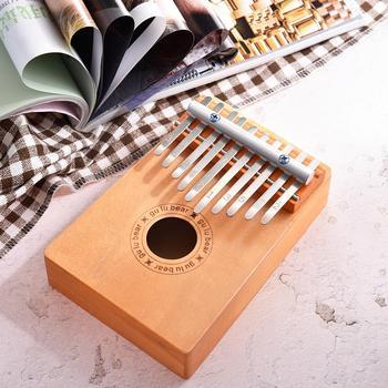 NEW 10 Keys Wooden Thumb Finger Piano Kalimba Musical Instrument Kids Children Toys international standard C tune Thumb Piano