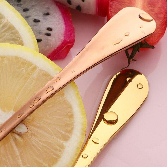 2 uds Tenedor de fruta de lujo Acero inoxidable oro tenedores para tartas de postre encantador Mini tenedor usado para pastel en fiesta tenedor para caracoles restaurante