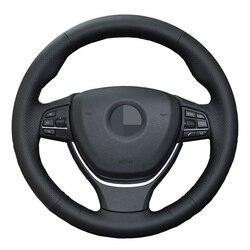 Protector para volante de coche de cuero Artificial para BMW Serie 6, 640i, 650i, F12, F13, F06, 7 Series, 730Li, 740Li, 750Li, F01, F02, 2009-2016