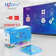 TV box Brasil smart tv box H96 Mini H6 4GB 32GB 128GB Smart Set Top Box 2.4G/5G Wifi 6K HD H.265 Bluetooth Media Player 2018 tanix tx28 tv box andriod 7 1 4gb 32gb 5g wifi bluetooth 4k hd smart tv box set top box usb 3 0 media player pk tx9 m8s pro