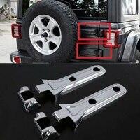 Novo abs cromado porta traseira do carro pneu de reposição dobradiça da bagageira capa guarnições acessórios interiores para jeep wrangler jl 2018 2019