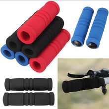 1pair Bike Racing Bicycle Motorcycle Handle Bar Foam Sponge Non-slip Set Cover Non-slip Outdoor Bike accessories bicycle grip(China)