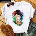 Мультяшная кавайная забавная мультяшная футболка Mulan, Женская Милая футболка в стиле аниме Харадзюку, Ullzang, графическая футболка, модный топ...
