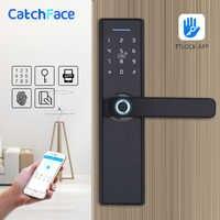 WIFI App электронный дверной замок, интеллектуальные Биометрические дверные замки отпечатков пальцев, умный wifi цифровой дверной замок без клю...