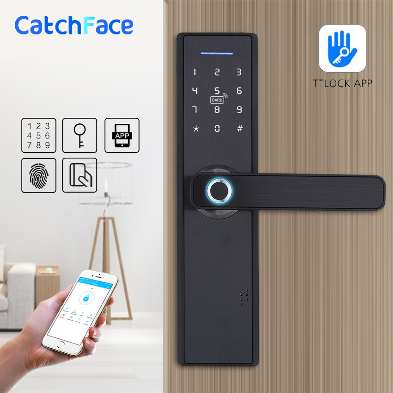 WIFI App Electronic Door Lock, Intelligent Biometric Door Locks Fingerprint, Smart Wifi Digital Keyless Door Lock