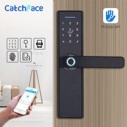 WIFI App cerradura electrónica inteligente biométrica cerraduras de la puerta de huella Digital WIFI inteligente Digital bloqueo de la puerta sin llave