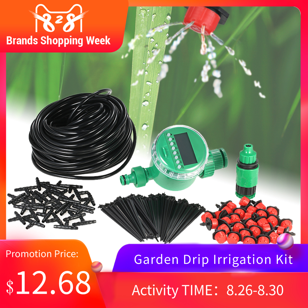 Garden Drip Irrigation Kit Plant Watering Timer Programmable Intelligent Irrigation System
