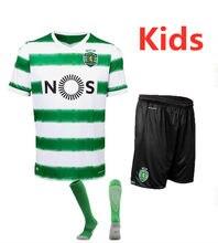 Kit enfants 20 21 Sporting lisbonne course chemises 2020 2021 Lisboa t-shirt maison loin chemise et court