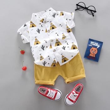 Kemeja Lengan Pendek dan Celana Pendek Anak 3