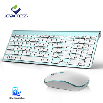 Wireless Keyboard and Mouse Combo Ultra-Thin Business Low-Noise Ergonomic Rechargeable Keyboard Mouse Set for Mac Pc Win XP/7/10