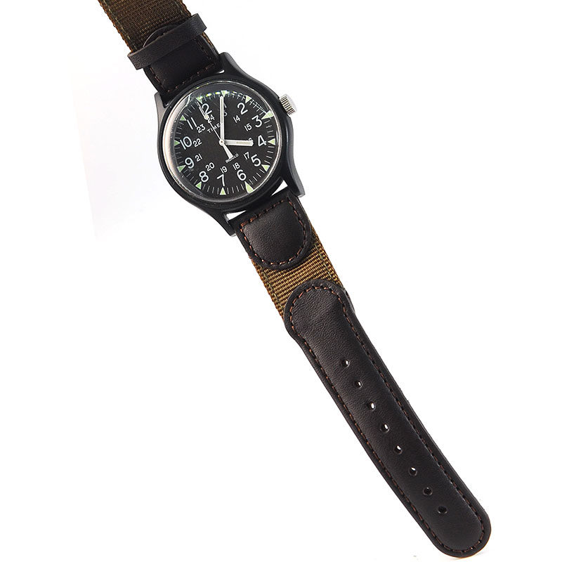 20mm Genuine Leather Nylon Watch Strap Watch Band Fit For Swiss Army TIMEX MK1