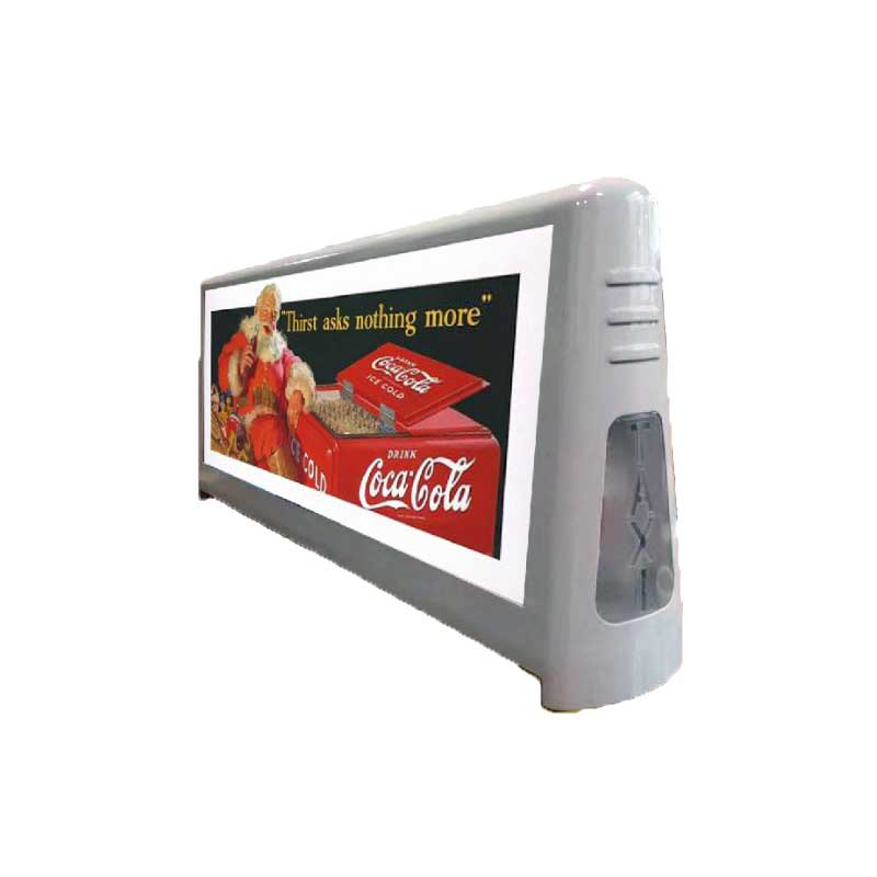 P2.5mm remote 3G/4G Wifi,USB double side fullcolor outdoor waterproof advertising led car sign taxi top led display screen