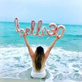 Надувные шарики «Hello 30», розовое золото, надувные воздушные шарики в виде цифр, украшение для вечеринки в честь Дня Рождения, 10/13/15/21/25th 30th
