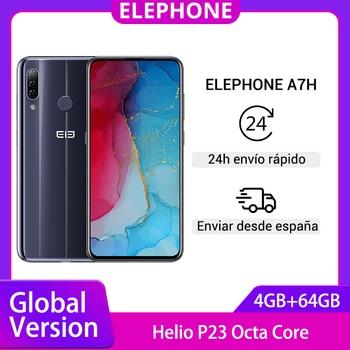 Перейти на Алиэкспресс и купить Глобальная версия смартфона ELEPHONE A7H Helio P23, 4 Гб 64 ГБ, 6,4 дюйма, Android 9,0, 3900 мАч, 13 МП