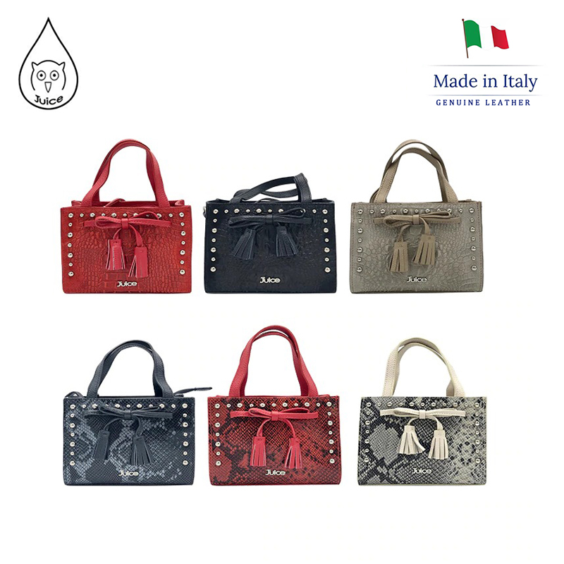 JUICE ,made In Italy, Genuine Leather, Women Bag,Women Small Handbag 112804P